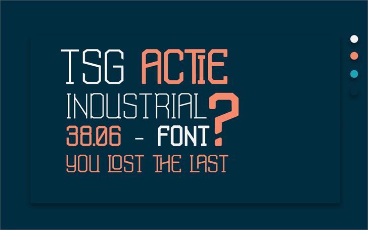 TSG Actie Font screenshot design
