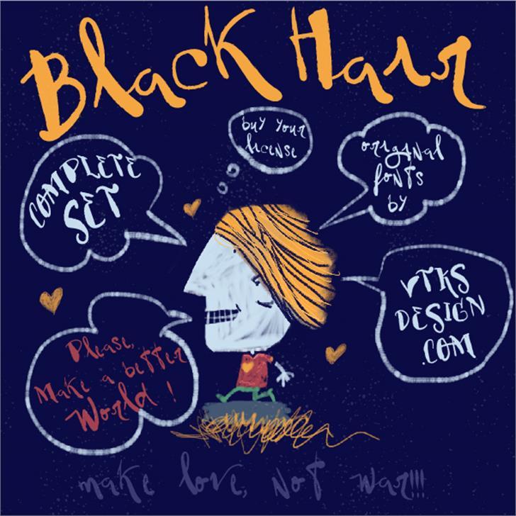 Vtks BlackHair font by VTKS DESIGN
