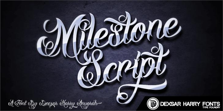DHF Milestone Script Demo Font typography handwriting