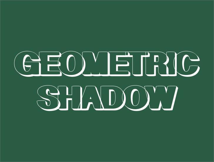 Geometric Shadow font by Intellecta Design
