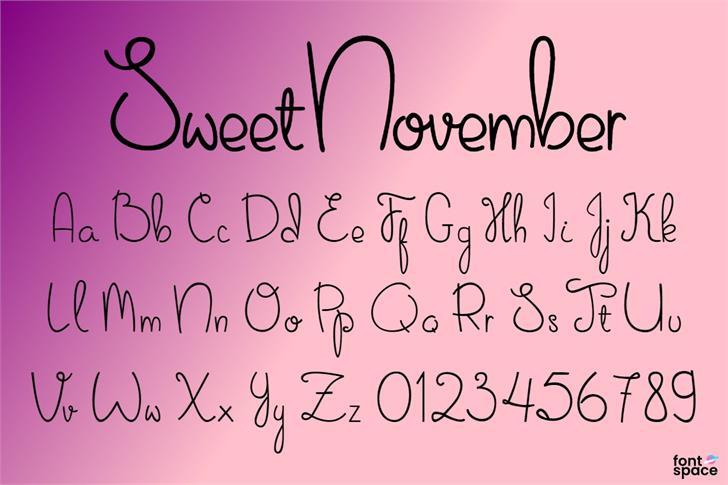 Sweet November Font poster