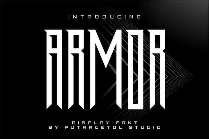 ARMOR FreeVersion Font poster design