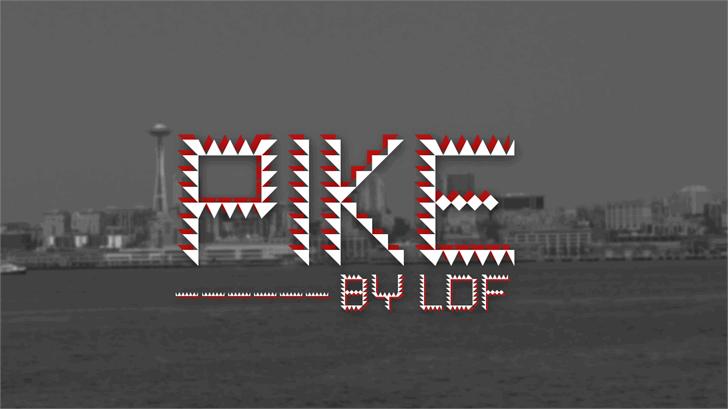 Pike Font screenshot design