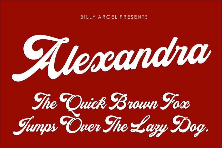 Alexandra Personal Use Font design text