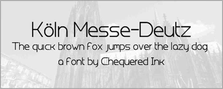 Koln Messe-Deutz font by Chequered Ink