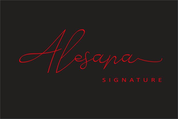 Alesana Font design graphic