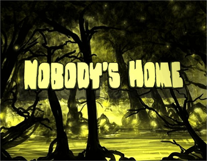 Nobody's Home Font tree outdoor