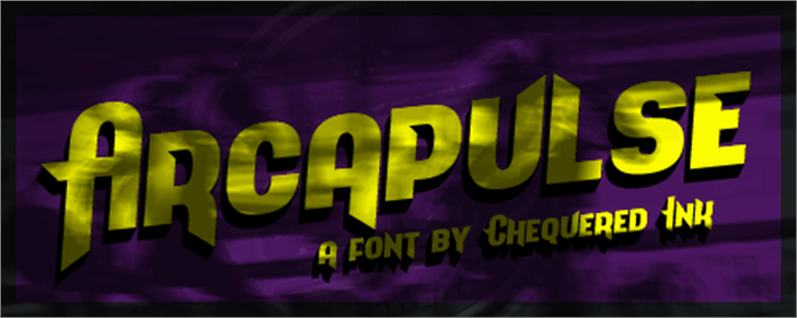 Arcapulse Font purple screenshot