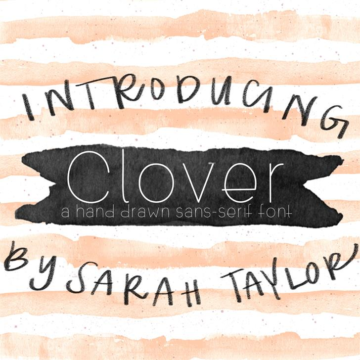Clover font by SarahTaylorDesigns