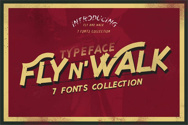 Fly n Walk  Font outdoor poster
