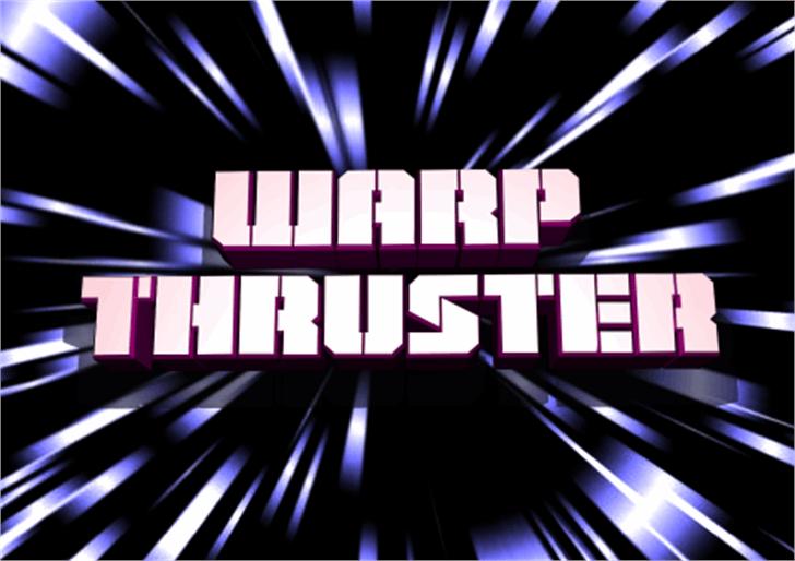 Warp Thruster Font screenshot geometry