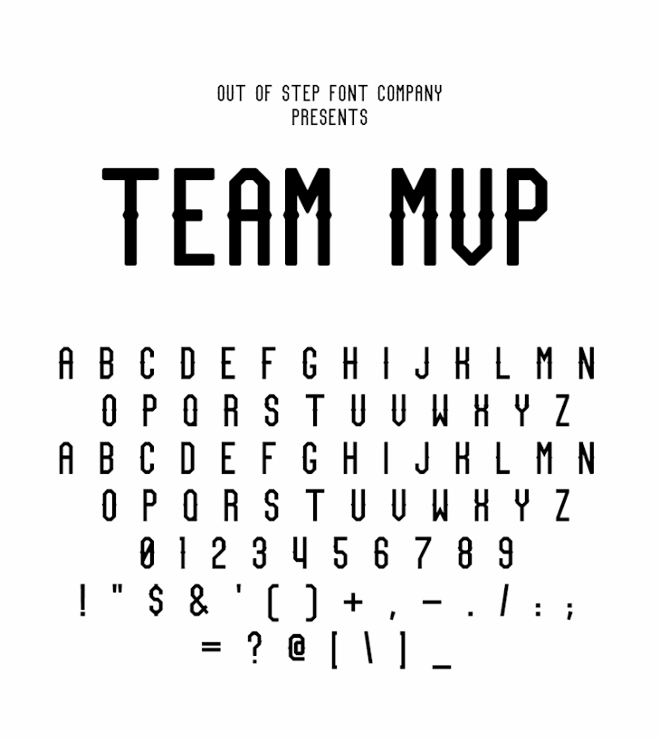 Team MVP Font moon dark