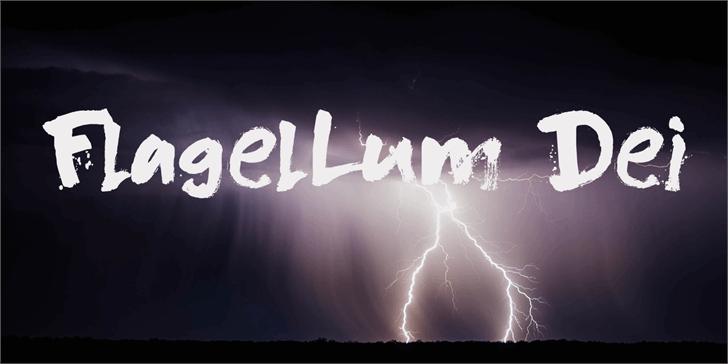 DK Flagellum Dei Font lightning abstract