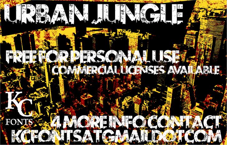 Urban Jungle font by KC Fonts