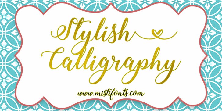 Stylish Calligraphy Demo font by Misti's Fonts