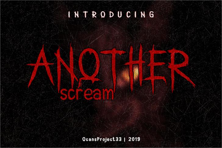 AnotherScream Font poster design