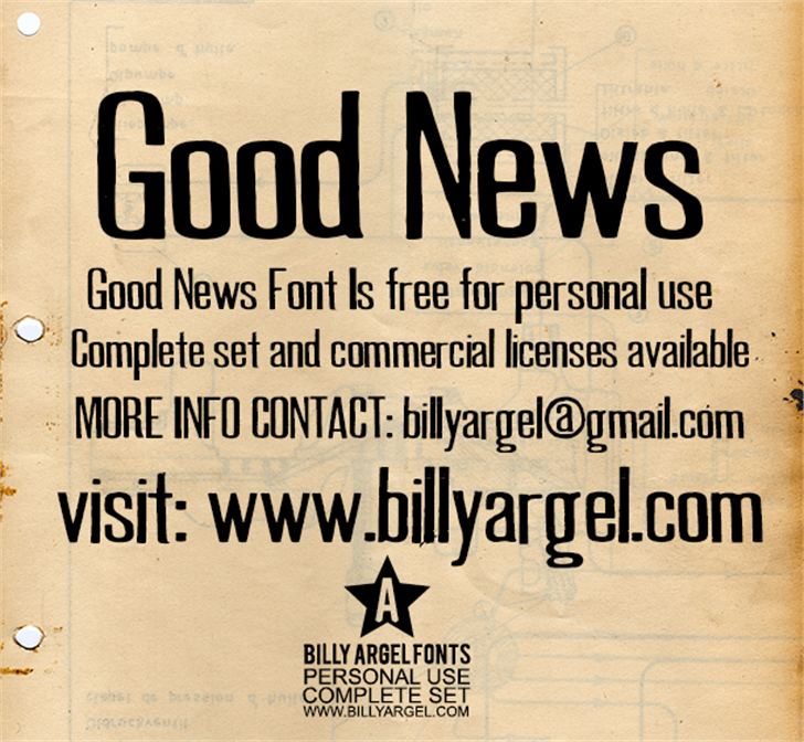 GOOD NEWS PERSONAL USE Font text poster