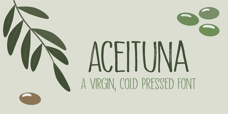 Aceituna DEMO Font handwriting design