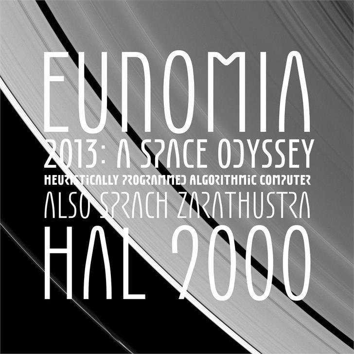 Eunomia Font poster design
