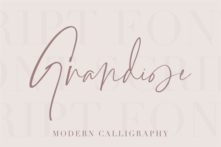 Grandiose Font handwriting