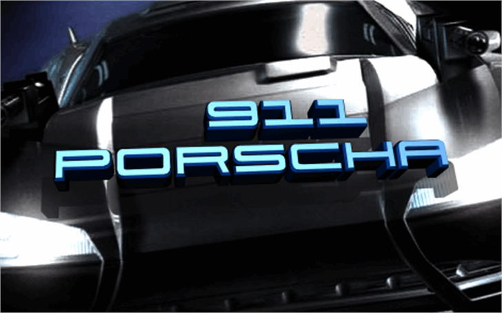 911 Porscha font by Iconian Fonts