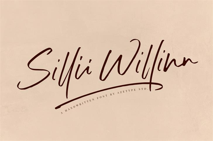 Sillii Willinn Font handwriting