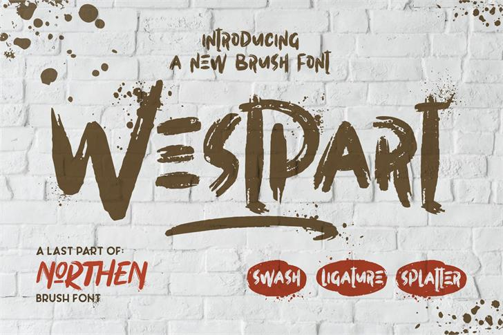 Westpart Font handwriting graffiti