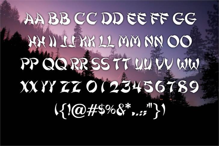 Shanghai Font poster