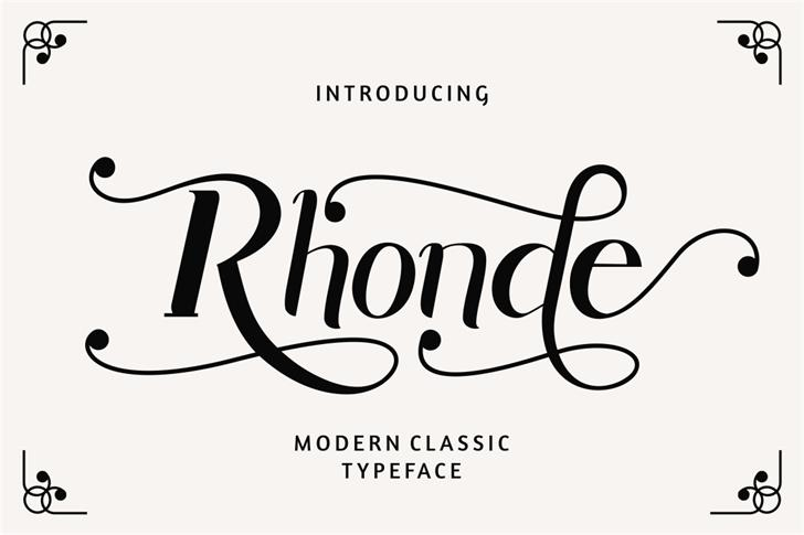 Rhonde Free Font design drawing