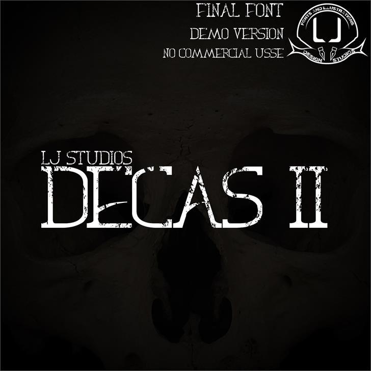 Decas II Font poster screenshot