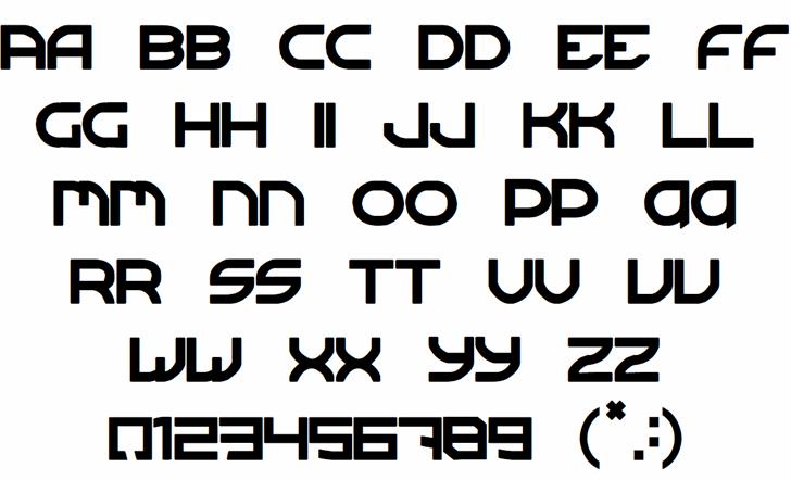 Sergeant TechnicFont 2 Font Letters Charmap
