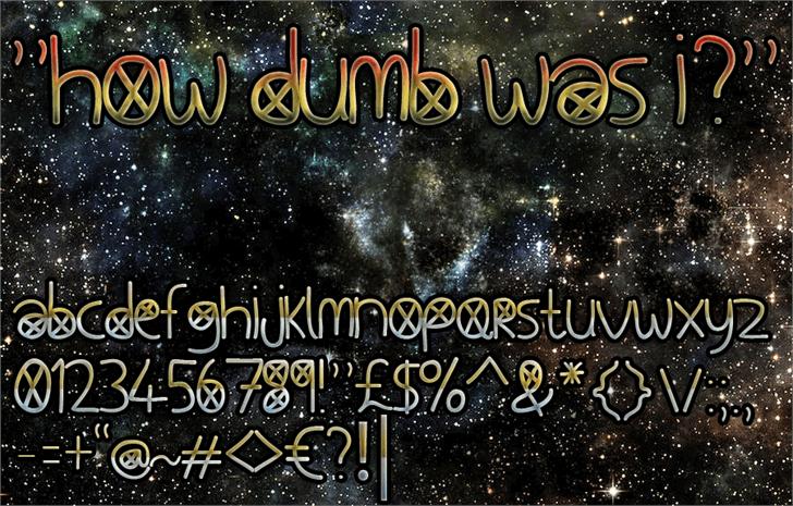 How Dumb Was I Font screenshot text