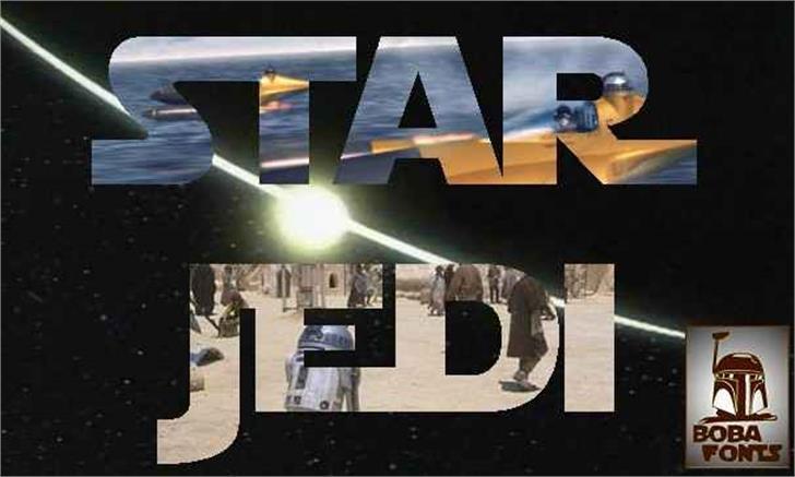 Star Jedi font by Boba Fonts