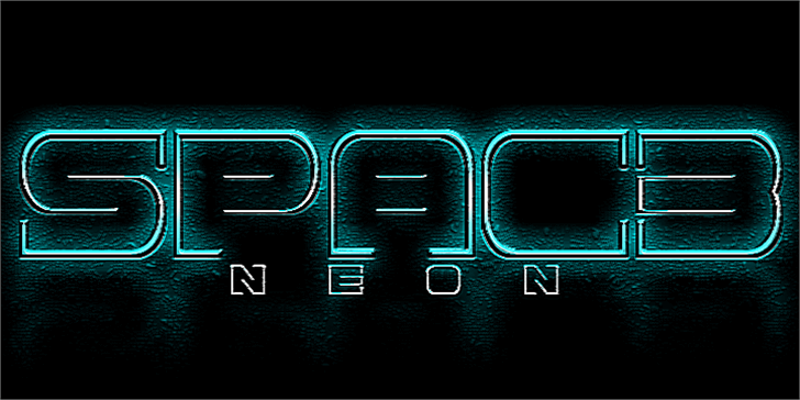 Spac3 neon font by Qbotype Fonts
