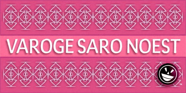Varoge Saro Noest Font poster design