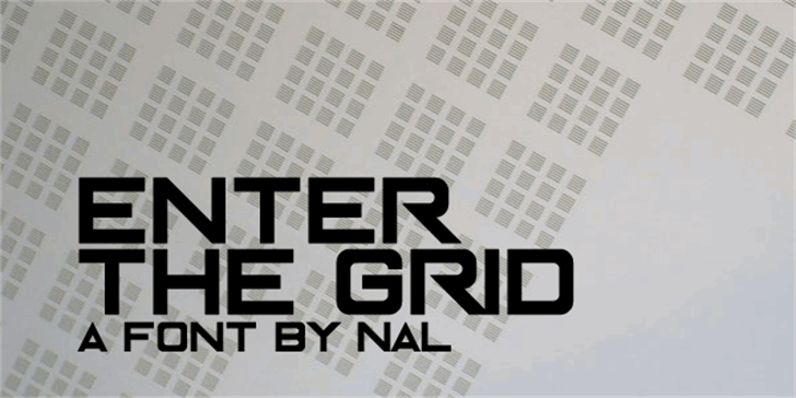 Enter The Grid font by Chequered Ink