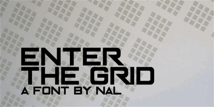 Enter The Grid Font poster screenshot