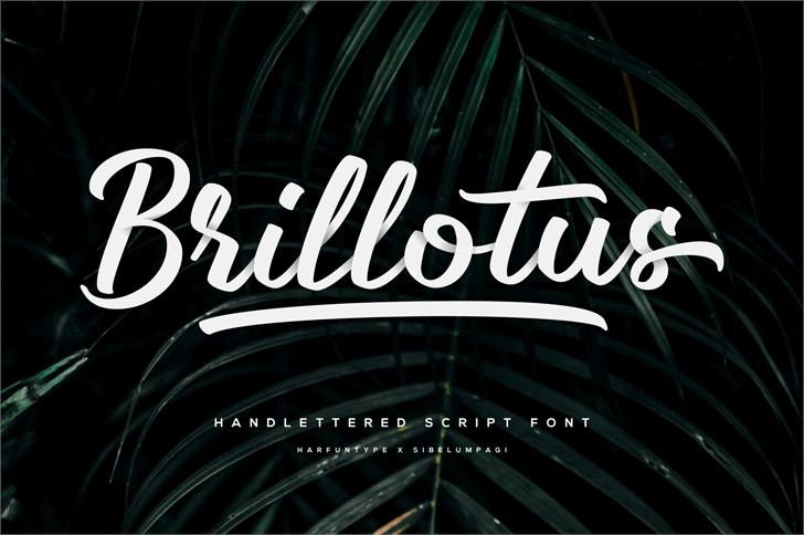 Brillotus Font design
