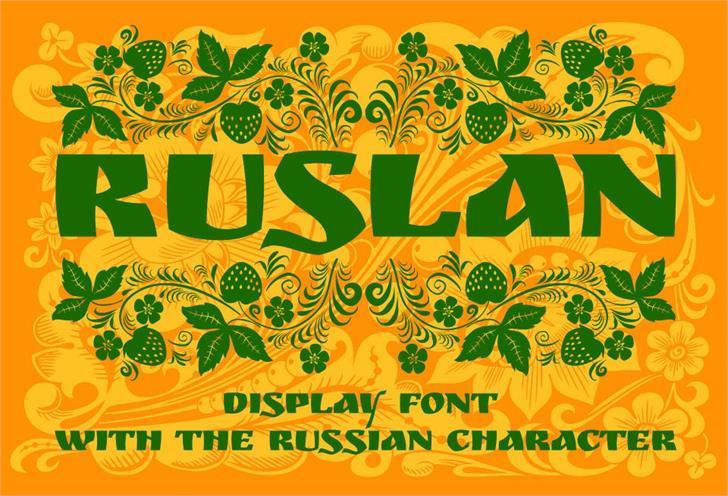 Ruslan Display Font illustration poster