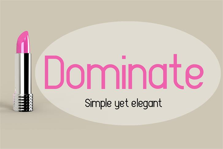 EP Dominate Font design graphic
