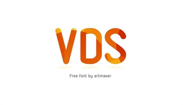 VDS Font design graphic
