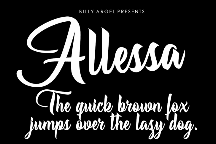 Allessa Personal Use font by Billy Argel
