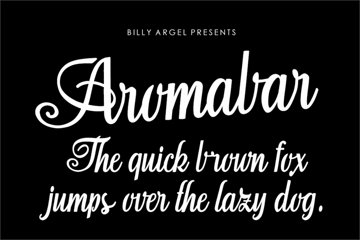 Aromabar Personal Use Font text design