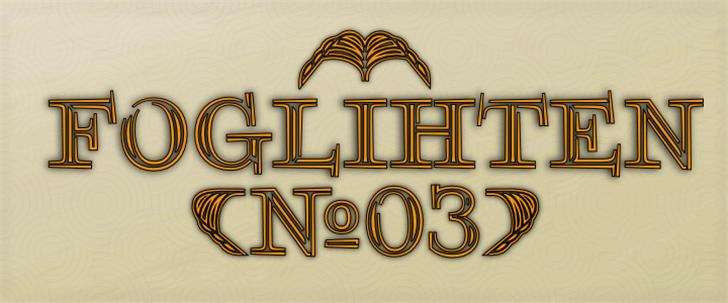 FoglihtenNo03 font by gluk
