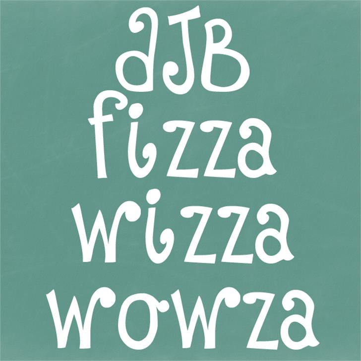 DJB Fizza Wizza Wowza Font handwriting blackboard
