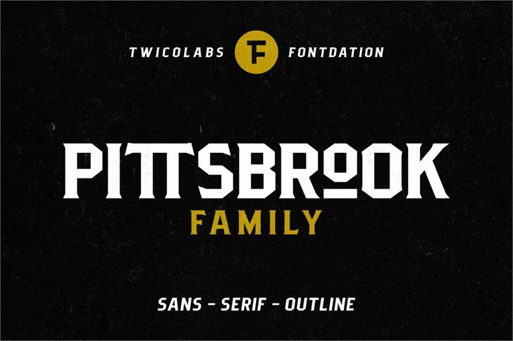 Pittsbrook Sans font by Twicolabs