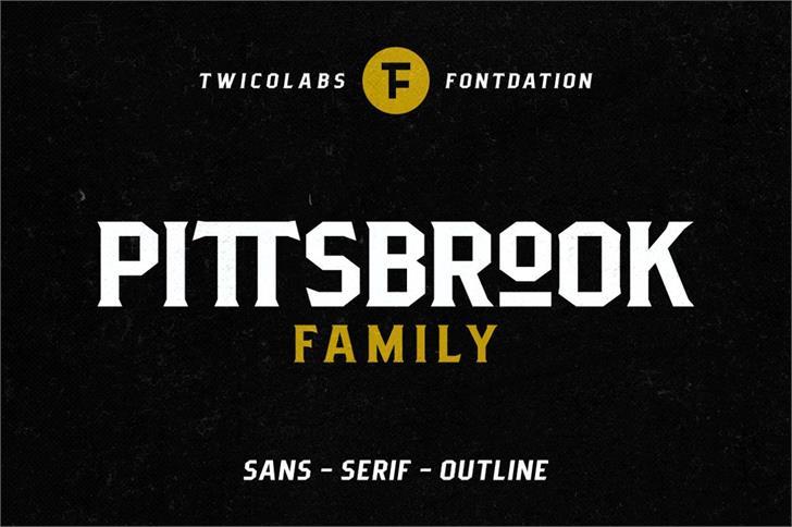 Pittsbrook Sans Font poster screenshot