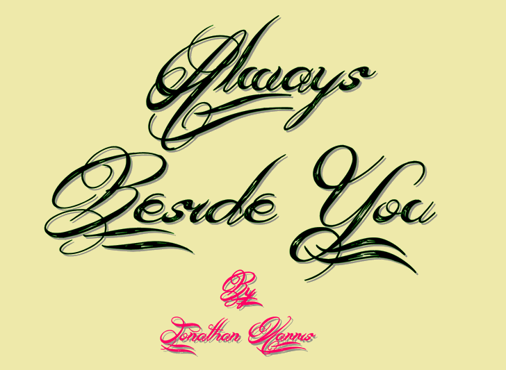 Always Beside You Font handwriting design