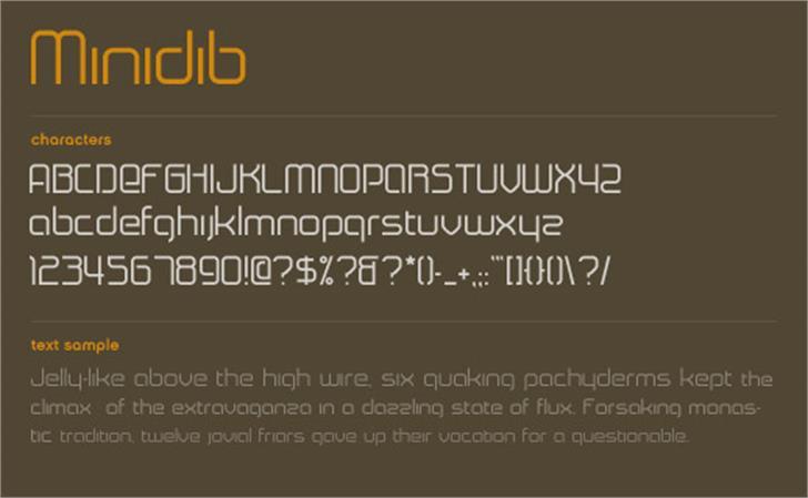 Minidib font by Marc Clancy