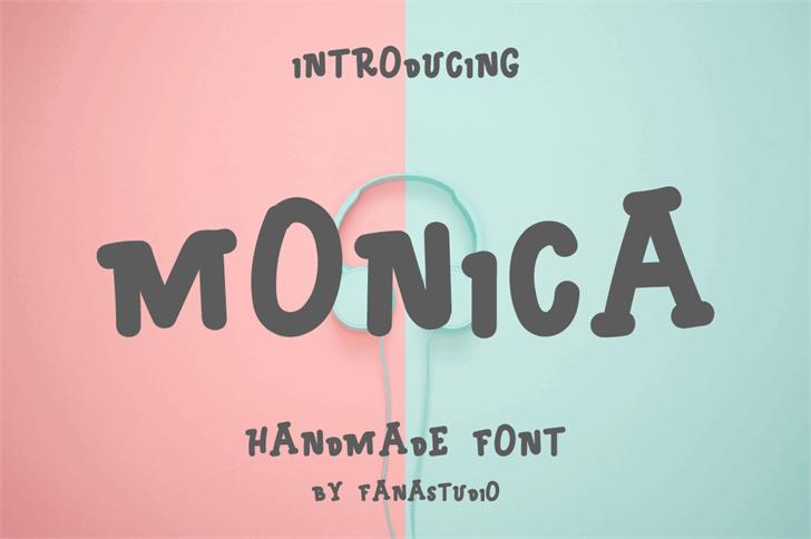 MONICA Font poster screenshot